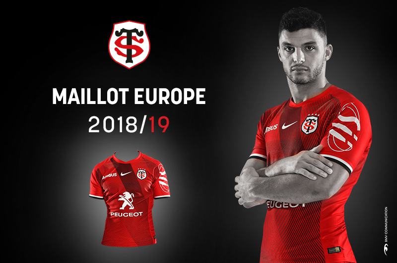 coupe d 39 europe d couvrez le maillot officiel 2018 2019 stade toulousain. Black Bedroom Furniture Sets. Home Design Ideas